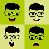 Uomo geek e nerd — Vettoriale Stock