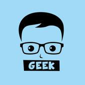 Geek ботаник мальчик — Cтоковый вектор