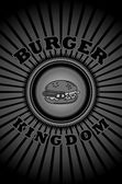 Food art burger — Stock Vector