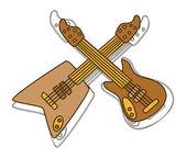 Gitarr kungen — Stockvektor
