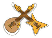 Guitar king — Vector de stock