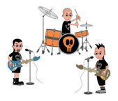 Music band show — Stock Vector
