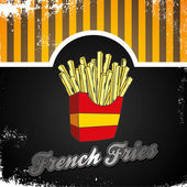 Art french fries — Stock Vector