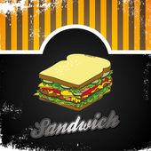 Smörgås bröd — Stockvektor