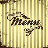 Sign menu — Stock Vector