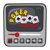 Streaming poker tournament — Stock Vector