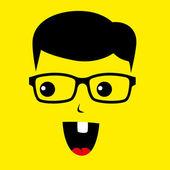 Geek boy genius — Stock Vector