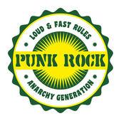 Badge punk rock — Stock Vector
