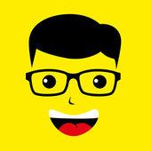 Geek boy genius — Stockvektor