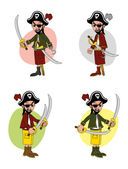 Pirate cartoon character — Stock Vector