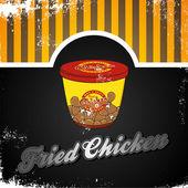 Smažené kuře — Stock vektor