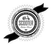 Rótulo de scooter — Vetor de Stock
