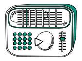 Radio player — Stock Vector