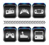 Konsola gier wideo — Wektor stockowy
