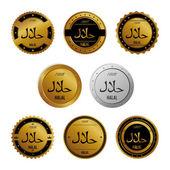 Halal label — Stock Vector