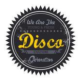 Disco music genre — Stock Vector