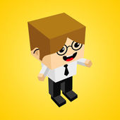 Isometric Businessman Character — Wektor stockowy