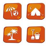 праздник и путешествия икона — Cтоковый вектор