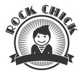 Uživatel obrázek rocková dívka — Stock vektor