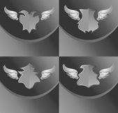 Art guardian shield — Stock Vector