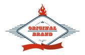 Label original brand — Stock Vector