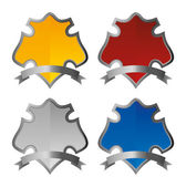 Shield plates — Stock Vector