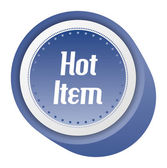 Hot item sticker — Stock Vector