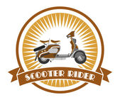 Old scooter label — Stock Vector