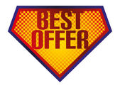Best offer sign — Stock Vector