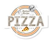 Pizza emblem — Stock Vector