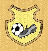 Soccer heraldry — Stock Vector