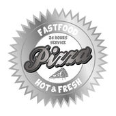 Pizza fast food capture theme — Vecteur