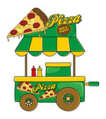 Pizza stand — Stockvector