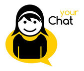 Cooles Mädchen Chat avatar — Stockvektor