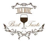 стакан вина — Cтоковый вектор