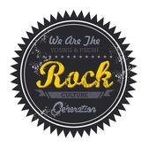 Rock music genre — Stock Vector