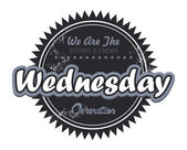 Wednesday tag — Stock Vector