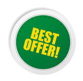 Best offer promo — Vector de stock