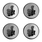 Thumb button set — Stock Vector