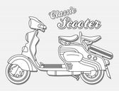 Scooter outline — Stock Vector