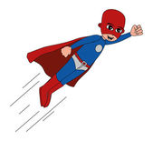 Superhero with red mask — Stock Vector
