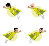 Amazing superhero set — Stock Vector