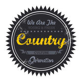 Country music genre — Stock Vector