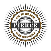 Label fierce — Stock Vector