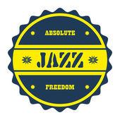Badge jazz — Stock Vector
