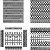 Native american art pattern set — Stock vektor