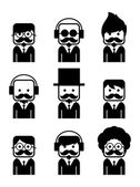 Mustache guy theme — Vector de stock