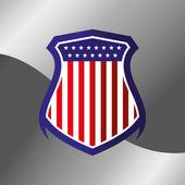 Vote shield label — Stock Vector