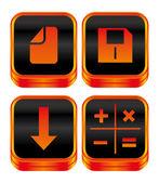 Media interface icon — Stock Vector