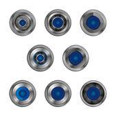 Blue light shutter lens — Stock Vector